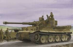 Tank Tiger I Tunisia Initial Tiger in scale 1-35