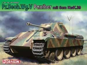 Pz.Beob.Wg.V Panther mit 5cm KwK.39 in scale 1-35 Dragon 6821