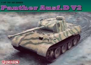 Tank Panther ausf. D V2 in scale 1-35 Dragon 6822
