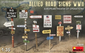 Model MiniArt 35608 Allied Road Signs WWII Eur.Theatre