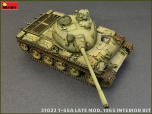 Model MiniArt 37022 tank T-55A Late mod.1965 w/interior