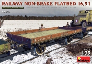 Model MiniArt 39004 Railway non-brake Flatbed 16,5t