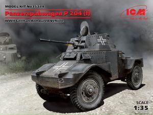 Model ICM 35374 Panzerspähwagen P 204 (f), WWII German Armoured Vehicle