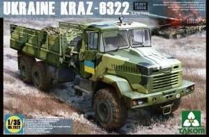 Ukraine Kraz - 6322 in scale 1-35 Takom 2022
