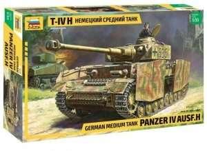 Panzer IV ausf.H German medium tank in scale 1-35 Zvezda 3620