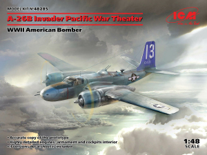 Model ICM 48285 A-26В Invader Pacific War Theater, WWII American Bomber