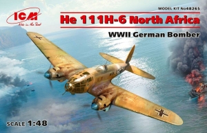Model ICM 48265 He 111H-6 North Africa, WWII German Bomber