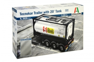 Model Italeri 3929 Tecnokar Trailer with 20' Tank