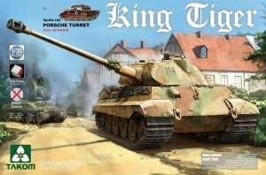 King Tiger Sd.Kfz.182 Porsche Turret Takom 2074
