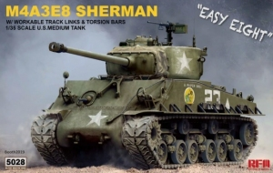 Model Rye Field Model RM-5028 M4A3E8 Sherman w/workable track links and torsion bars