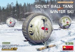 Model MiniArt 40008 Soviet Ball Tank with Winter Ski with Interior Kit