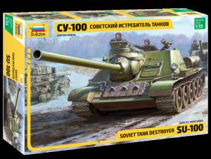 Model Soviet Tank Destroyer SU-100 Zvezda 3688