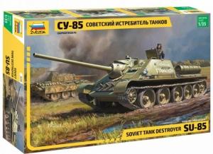 Model Soviet Tank Destroyer SU-85 Zvezda 3690