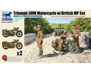 British Triumph 3HW Motorcycle with British Military Police 1:35