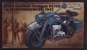 WWII Zundapp KS 750 /w Feldgendarmerie in 1:35 GreatWallHobby 3524