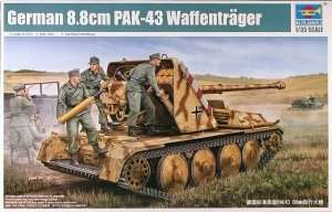 German 8.8cm PaK-43 Waffentrager in scale 1-35