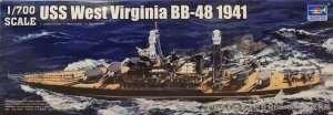 Model Battleship USS West Virginia BB-48 1:700