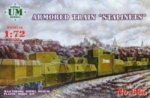 Armored Train Stalinets in scale 1-72