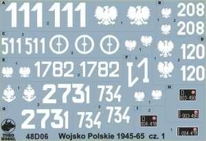 Polish Army 1945-65 vol. 1 - 48D06 in scale 1-48