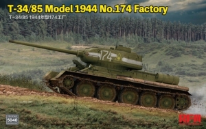 T-34/85 Model 1945 no. 174 Factory RFM 5040 in 1-35