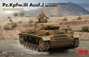 RFM 5072 Czołg Pz.Kpfw.III Ausf.J z wnętrzem