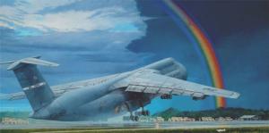 Roden 330 Samolot C-5B Galaxy model 1-144