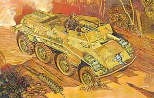 Sd.Kfz.234/3 Schwerer Panzerkanonenwagen model Roden 707 in 1-72