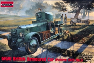 WWII British Armoured Car Pattern 1920 Mk.I model Roden 801