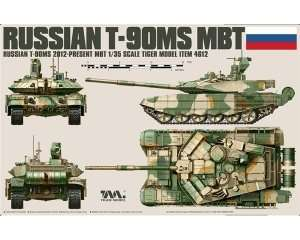 Tiger Model 4612 Russian Tank T-90MS in scale 1-35