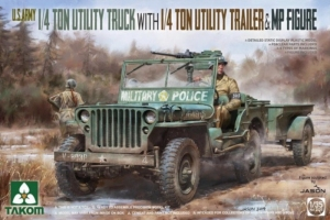 1/4 Ton Utility Truck with 1/4 Ton Utility Trailer Takom 2126