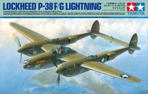 Lockheed P-38 F/G Lightning model Tamiya 61120 in 1-48