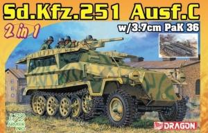 Sd.Kfz.251/7 Ausf.C z armatą PaK 36 2w1 Dragon 7606