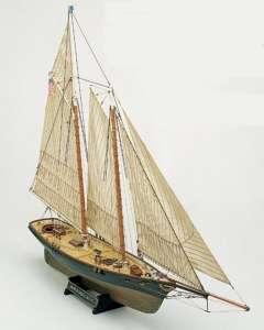 Szkuner America Mamoli MV26 drewniany model okrętu w skali 1-66