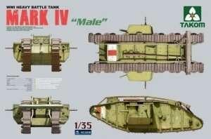 Tank Mark IV Male in scale 1-35 Takom 2008