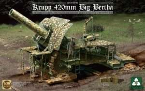 Krupp 420mm Big Bertha in scale 1:35 Takom 2035