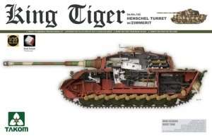 King Tiger Henschel Turret w/Zimmerit in scale 1-35 Takom 2045