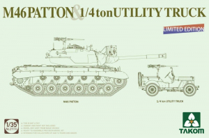 M46 Patton and 1/4 ton Utility Truck Takom 2117x limited edition
