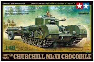 British Tank Churchill Mk.VII Crocodile in scale 1-48