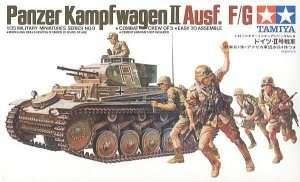 German Panzerkampfwagen II in scale 1-35 Tamiya 35009