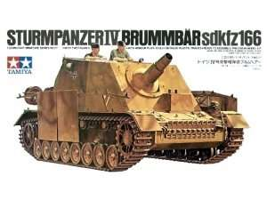 German Sturmpanzer IV Brummbar in scale 1-35