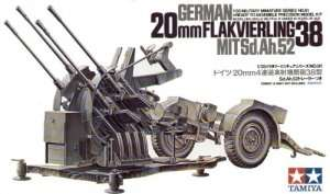 German 20mm Flakvierling 38 in scale 1-35 Tamiya 35091