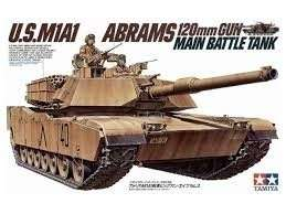 U.S. M1A1 Abrams 120mm Gun Main Battle Tank model Tamiya