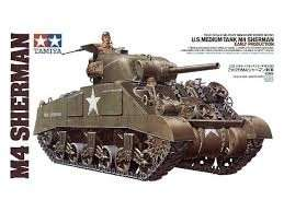 U.S. Medium Tank M4 Sherman Early in scale 1-35
