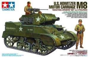 U.S. Howitzer Motor Carriage M8 in scale 1-35