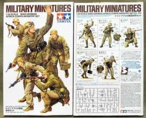 Tamiya 35314 WWII German Africa Corps Infantry Set