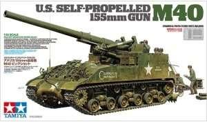 U.S. Self-Propelled 155mm Gun M40 in scale 1-35 Tamiya 35351