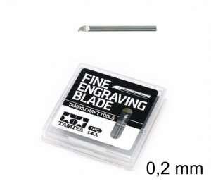 Fine Engraving Blade 0,2mm - Tamiya 74136