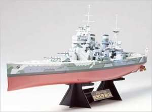 Model British Battleship Prince of Wales scale 1-350