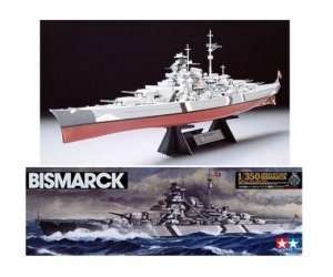 German Battleship Bismarck in scale 1-350 Tamiya 78013