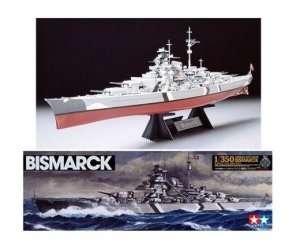 German Battleship Bismarck in scale 1-350 Tamiya 78013